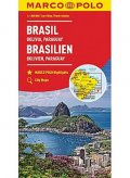 neuveden: Brazílie,Bolívie,Paraguay,Uruguay/mapa 1