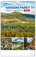neuveden: Kalendář 2022 nástěnný: Národní parky Čech a Moravy, 33 × 46 cm