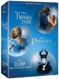 neuveden: Kráska a zvíře + Popelka + Zloba - Královna černé magie kolekce 3DVD