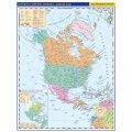 neuveden: Severní a střední Amerika - příruční politická mapa A3/1:33 mil.
