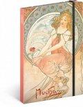 neuveden: Notes - Alfons Mucha – Obraz, linkovaný, 13 x 21 cm
