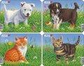 neuveden: Puzzle MINI - Štěňátka + koťátka/6 dílků (4 druhy)