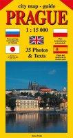 Beneš Jiří: City map - guide PRAGUE 1:15 000 (angličtina, ruština, španělština, polštin