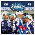 neuveden: Kalendář poznámkový 2019 - HC Kometa Brno, 30 x 30 cm
