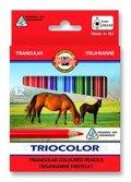 neuveden: Koh-i-noor pastelky TRIOCOLOR trohranné 12 ks, krátké