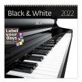 neuveden: Kalendář nástěnný 2022 - Black & White
