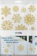 neuveden: HEYDA samolepky na okna  A4 - zlaté hvězdy 3ks