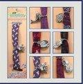 neuveden: Náramek na ruku fialová šňůrka s přívěškem - New Sensation