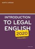 Chromá Marta: Introduction to Legal English Volume I.