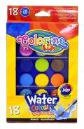 neuveden: Colorino Vodové barvy velké pozdro 18 barev se 2 štětci