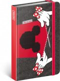 neuveden: Notes - Minnie, linkovaný, 10,5 x 15,8 cm