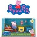 neuveden: Prasátko Peppa - vláček + 3 figurky
