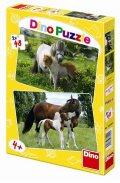 neuveden: Poníci a Koníci - puzzle 2 motivy v bale