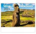neuveden: Kalendář nástěnný 2022 - World Wonders