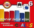 neuveden: Koh-i-noor křídy školní barevné 6 ks