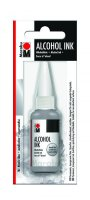 neuveden: Marabu Alkoholový inkoust/stříbrný 20 ml