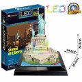 neuveden: Puzzle 3D Socha Svobody / led - 37 dílků