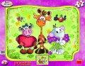 neuveden: Krkouni - rámové puzzle 12 dílků s tvary