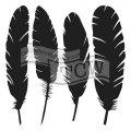 neuveden: TCW šablona 15,24 x 15,24 cm - Four feathers, mini