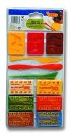 neuveden: JOVI SADA plastelína 6x50g + 3 formičky + 3 modelovací nože