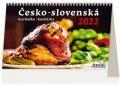 neuveden: Kalendář stolní 2022 - Česko-slovenská kuchařka/kuchárka
