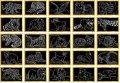 neuveden: Škrabací obrázky se zlatým podkladem 15 x 10 cm