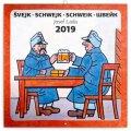 neuveden: Kalendář poznámkový 2019 - Švejk – Josef Lada, 30 x 30 cm