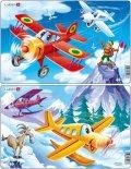 neuveden: Puzzle MIDI - Letadla - planes/13 dílků (2 druhy)