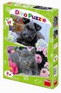 neuveden: Pejsek a Kočička - puzzle 2 motivy v bal