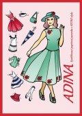 neuveden: Adina - Vystřihovací papírová panenka v retro stylu