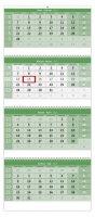 neuveden: Kalendář nástěnný 2022 - Čtyřměsíční GREEN/Štvormesačný GREEN
