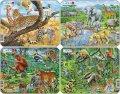 neuveden: Puzzle MINI - Exotická zvířata/11 dílků (4 druhy)