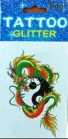 neuveden: Tetování Zelený drak jin a jang
