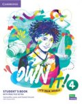 Lewis Samantha, Vincent Daniel: Own it! 4 Student´s Book with Practice Extra