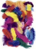 neuveden: Dekorativní peříčka 25 g - mix barev / 4-20 cm