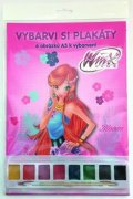 neuveden: Winx Club  - Plakátové omalovánky A3