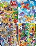 neuveden: Puzzle MINI - Letadla,hasiči,farma,fotbal/14 dílků (4 druhy)