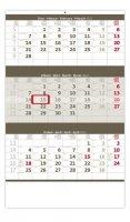 neuveden: Kalendář nástěnný 2022 - Tříměsíční šedý