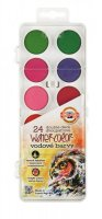 neuveden: Koh-i-noor vodové barvy/vodovky obdélník bílý 24 barev dvoupatrové