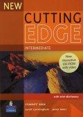 Cunningham Sarah: New Cutting Edge Intermediate Students´ Book w/ CD-ROM Pack